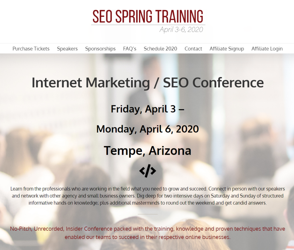 SEO Spring Training Image