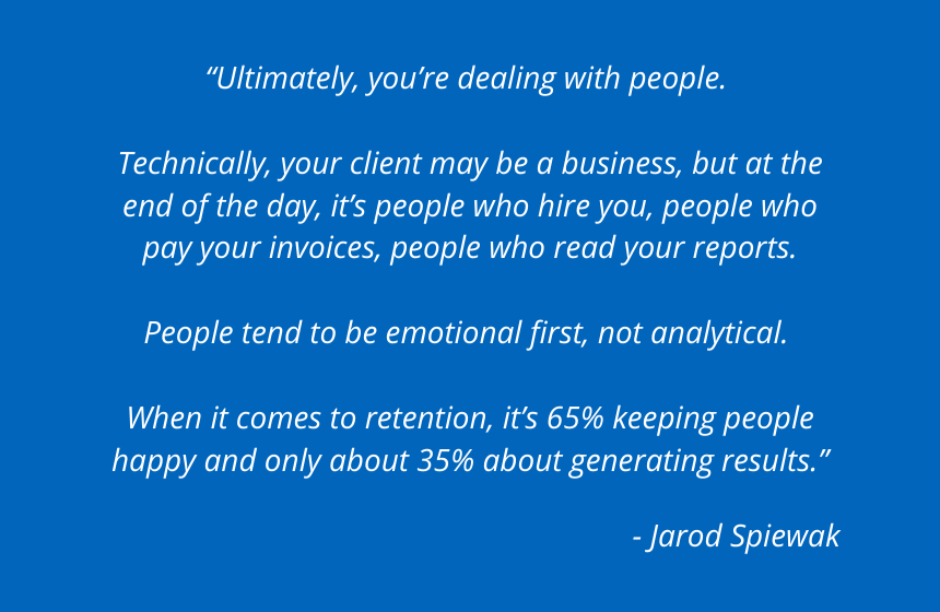 Jarod Quote Happiness vs Profitability