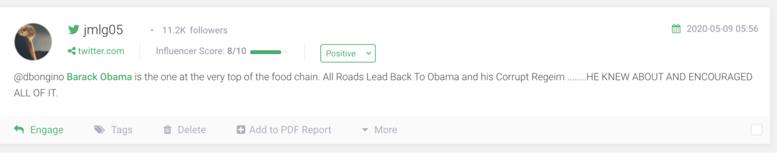 Barack Obama Sentiment Analysis