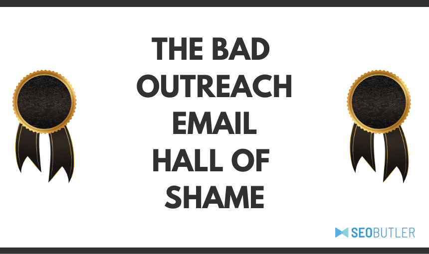 Bad Outreach Email Hall of Fame Header