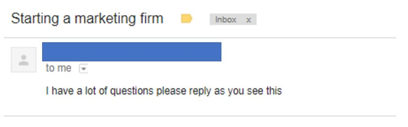 Bad Email Outreach 1