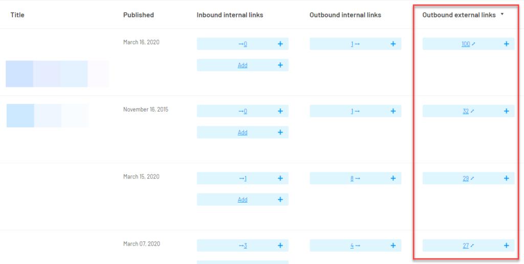Outbound External Links